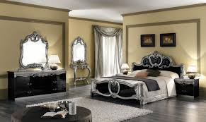 decoration black black antique style bedroom