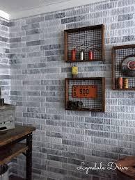 whitewashed brick walls