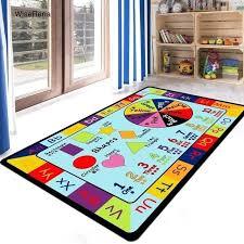 play carpet lovely car letters cartoon children kids rugs parlor living room boy bedroom mat printed play carpet