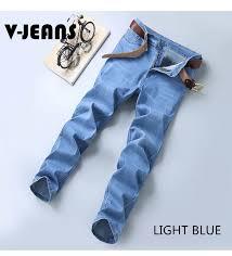 Amanda Jeans New Arrival Mens Slim Fit Denim Jeans Light Blue Stretchable Cod