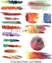 Watercolor Brush Strokes Vector Illustration Search Clipart