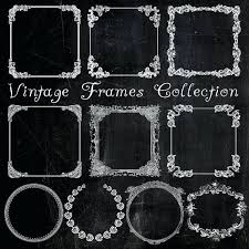 black antique picture frames. White Vintage Picture Frames Chalkboard Digital Set Of  Printable Bonus . Black Antique