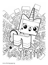 The Lego Movie Unikitty A Unicorn Kitten Coloring Page