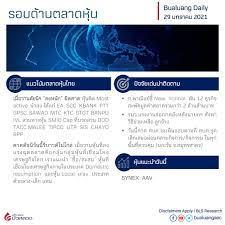 BLS Research: รอบด้านตลาดหุ้นและแนะนำหุ้นทางเทคนิค ประจำวันที่ 29 มกราคม  2564 Bualuang Knowledge Sharing