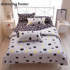 batman black white color cartoon bedding set duvet cover bed sheet bedclothes twin full queen king size beddings for kids duvet for king duvet cover