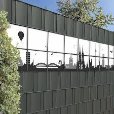 Schicke Sichtschutzstreifen Mit Der Kölner Stadt Skyline