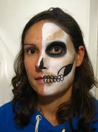 half skull face paint step 3 c alana dunlevy
