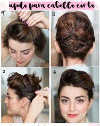 Ideas De Lindos Peinados Faciles De Hacer Para Cabello Corto En 18 Recogidos Pelo Corto Faciles