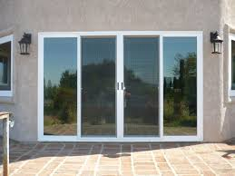 4 panel sliding patio doors white
