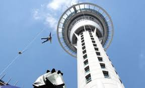 Image result for bungee jumping off the sky tower