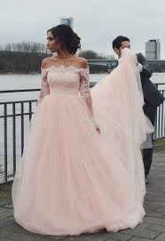 pink wedding gowns. Off The Shoulder Wedding Gown Blush Pink Wedding Dress Tulle
