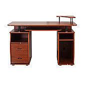 desk for office. Homcom Computer Desk Office Corner Nut Brown For