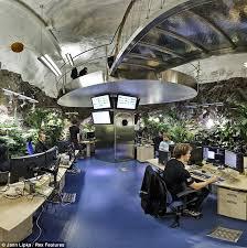 Wikileaks office Bond Villain Plant Life The Offices Feature Lunarlandscape Flooring Glass Corridors And Daily Mail Wikileaks Bunker Julian Assanges Subterranean Bond Villain Den