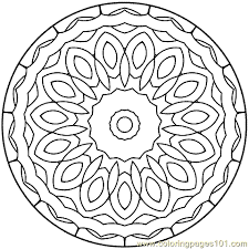 Small Picture Mandala Coloring Pages Free Printable FunyColoring