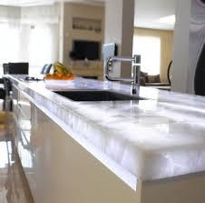 semiprecious stone countertop commercial kitchen gemstone white quartz