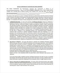 Standard Nda Agreement Template 11 Mutual Non Disclosure Agreement Templates Pdf Word