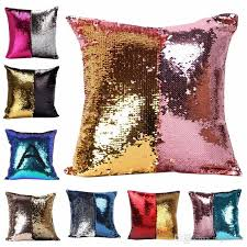 2017 double color glitter sequins throw pillow case cafe home decorative sequins hold pillow case square cushion covers outdoor patio pillows large outdoor