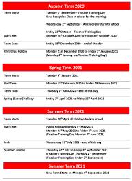 term dates bis itchington primary