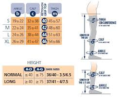 Calf Size Chart Sigvaris Size Charts Compression Stockings