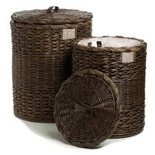 Round Wicker Laundry Hamper With Lid Designs
