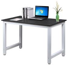 office desk workstation. Popamazing Modern Black Wood Computer Desk Home Office Metal Frame Laptop Table PC Workstation: Amazon.co.uk: Kitchen \u0026 Workstation U