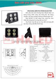 Đèn pha led ngoài trời 200W tròn IP65 - Thương hiệu HKled - HKLED - Sản  xuất đèn LED tại Việt Nam