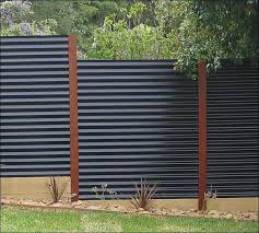 Wonderful Sheet Metal Fence Modern Corrugated With Design Ideas