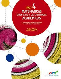 Attractive Libro Matemáticas Orientadas A Las Enseñanzas Académicas 4º ESO Anaya  Proyecto Aprender Es Crecer