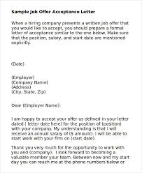 letter to accept job job acceptance letter 6 free word pdf documents download free