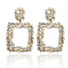 <b>ECODAY</b> Colorful <b>Crystal</b> ZA 2019 Earrings for Women Drop ...