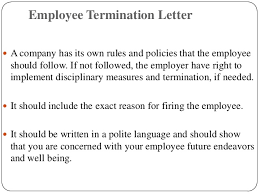 writing professional letters employment termination letter to employee how to write a termination letter to an employer