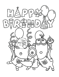 Free Birthday Coloring Pages Free Printable Happy Birthday Coloring