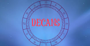 Astrology Decans Chart Astrology Decans