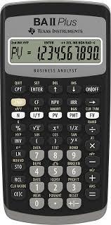 Financial Calculator Texas Instruments Ba Ii Plus Adv Financial Calculator