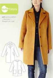 Coat Sewing Patterns Gorgeous Waffle Patterns Sewing Patterns Straight Cut Coat Bamboo