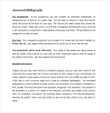 annotated bibliography sample   sop examples DWRL Lesson Plans