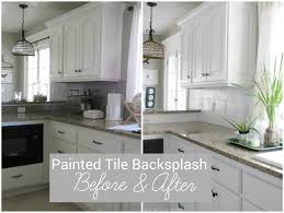tile paint kitchen. Fine Paint I Painted Our Kitchen Tile Backsplash For Paint W