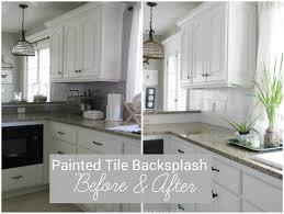 i painted our kitchen tile backsplash