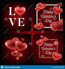 Valentines Flyers Valentines Day Sale Background With Heart Shaped Balloons
