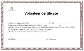 Volunteer Of The Month Certificate Template Volunteer Certificate