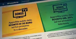 Anche Prezzoforte.it permette di chiedere il Bonus TV online