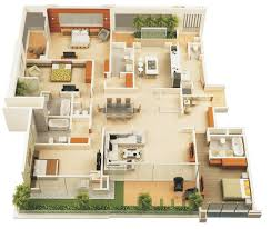 house design plans bedroom ideas 3d 4 bedrooms gallery interalle com
