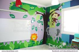 how to apply jungle theme wall decal