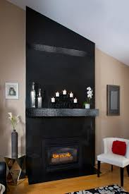 granite and mosaic tile fireplace