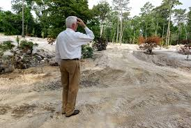 mercer botanic gardens grapples with silt and erosion from massive tax day floods