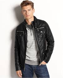x ray jacket faux leather er jacket