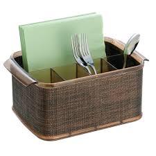 Kitchen Countertop Storage Interdesign Twillo Flateware Caddy Organizer For Kitchen