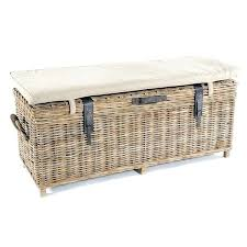 wicker storage bench wing outdoor rattan benches
