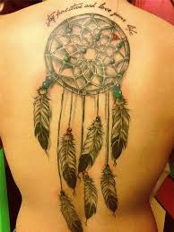 Simple Dream Catcher Tattoos Collection of 100 Feather Dream Catcher Tattoo On Back Of Girl 72