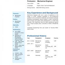 Resume Samples For Freshers Mechanical Engineers Free Download Rarechanical Engineering Resume Format For Year Experienced 25